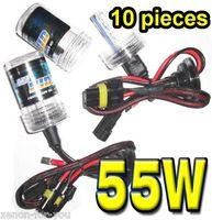 achat en gros de cacha 55w ac h1-10 paires 12V 55W Xenon HID Ampoules de remplacement secteur de rechange Lampes à faisceau unique H1 H3 H4 H7 H8 H11 880 881 D2S 9004 9005 9006 9007 Tous Color Quality