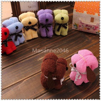 Wholesale Cotton Microfiber Little Mini Puppy Dog Towel Wedding Gift Towels Children Birthday Cute Gifts cm