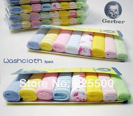 Wholesale Gerber towel baby wash cloth infant towel baby feeding towel handkerchief pack Free shippin