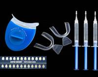 Cheap Wholesale-Advanced Home Use Teeth Whitening Bleaching Dental Oral Hygiene Whiten Tooth Whitener Gel Syringe Kits + LED Laser Light