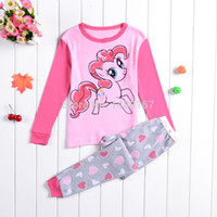 best cotton pajamas - Hot Style Baby Cartoon Pyjamas Set Children s My Little Pony Baby Pajamas Set Kids Homewear Suits Kids Best Gifts