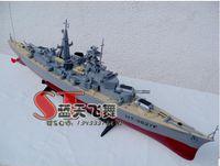 battleships models - High simulation rc toy Non toxic material Remote control boat military model german Bismarck battleship design flash kids gift