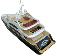 Wholesale EMS RC boat Brushless EP Large Boats Sunseeker Tri deck Luxury Yacht BP A RTR Pistol Transmitter