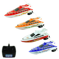 attractive games - Attractive New Fashion Powerful Plastic Remote Control Boats Speed Electric Toys Model Ship Sailing Children Game Kids Ship