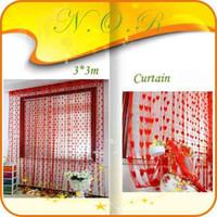 wall dividers - mX3m Heart Line String Curtain Tassel For Wall Vestibule string panel fringe panel room divider wedding drapery cortinas