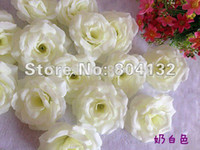 Wholesale cm Silk Rose Flower Heads Colors for Wedding Party Decorative Artificial Simulation Silk Peony Camellia Rose Flower