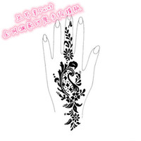 Wholesale new Popular of patterns Temporary Tatto Stencil Template Henna tattoo hands feet Painting Kit sexy girl