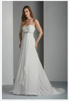 Wholesale Color Ivory White Custom Made DaVinci Bridal Strapless Wedding Dresses Fabric Chiffon