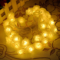 antique auto lights - m Led Plastic Rose Antique Fairy String Night Lights Garden Christmas Party Wedding Decoration Light