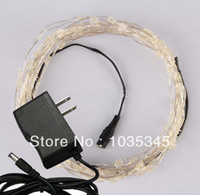 ac power point - M LED eight pointed star silver wire led fairy string lights with V AC power adaptor Christmas party wedding decoration