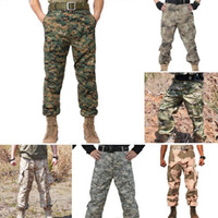 Wholesale Fashion Men Tactical Pants For Training Cambat Outdoor Swat Camoflage Cargo Trousers Loose Outdoor Accented Combat Special These Pants Pants