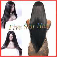 custom made full lace wig - Best custom made full density glueless full lace wig virgin hair brazilian straight glueless lace front human hair wigs