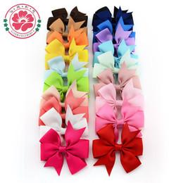 Promotion accessoires de cheveux pour les bébés filles Gros-564 (40 pcs / lot) 3 pouces Grosgrain Ribbon Bows cheveux Clip, Clips Baby Girl Pinwheel hairbows / Cheveux / Hair Pins Accessoires