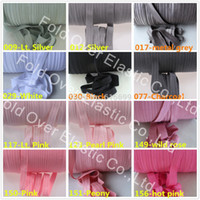 fold over elastic - Colors Solid FOE Y One Color Pls note color no when place order Hair elastic custom print fold over elastic