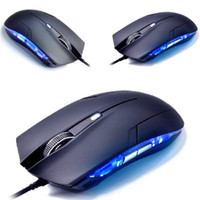 Wholesale Scolour Optical DPI USB Wired Gaming Game Mouse For Games PC Laptop Black amp