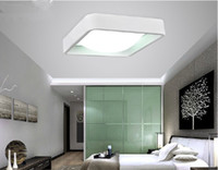 acrylic ceiling paint - Modern Ceiling LED lighting Square Metal Acrylic lamps High quality baked paint borders lights for Bedroom light fixture