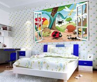 Wholesale D Window Scenery Animal World Kids Nursery Wall Sticker Decals Baby Decor GL02