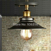 Wholesale dia cm Vintage metal black lampshade creative and retro ceiling lights for restaurant club with vintage lampshade