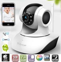 Cámara electrónica de control de monitor de bebé con la visión nocturna de intercomunicación de voz WIFI Red IP remota mayor-Wireless Para MAC PC Phone