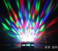 Wholesale LED E27 W RGB Crystal Ball Effect Light Rotating Stage Lighting Disco Party