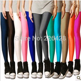 Wholesale Fashion Plus Size Candy Color Women s High Stretched Yoga Autumn Summer Best Selling Neon Leggings