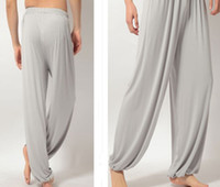 Wholesale Modal Men Tai Chi Yoga Pants Male Sport Pants Fitness Dance Pants Loose Pants Bloomer M L XL XXL XXXL to choose