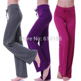 Wholesale New Women Sport Pants Yoga Harem Pants GYM Trousers TaiChi Women Lemon Loose Bloomers Sweatpants Lacing Fitness Dance Plus Size