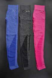 Wholesale-Womens Saphire\red sports\deportivas quick dry stretch slim fitness yoga\running\gym pants\tights\leggings\pantaloni for ladies