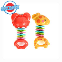 fisher price toys - Baby Stroller Toy Fisher Clack n Wiggle Giraffe Crab for Baby Musical Rattles Mobile Educational Toddler Toys Price