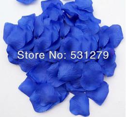 Wholesale Artificial royal blue silk rose petals for wedding basket girl flowers petalos de rosa pack pack