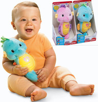 fisher price toys - Baby Rattle Toy Fisher Ocean Wonders Soothe and Glow Seahorse Kawaii Sea Horse Plush Toys for Pram Children Christmas Gift Price