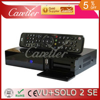 Cheap Wholesale-Mini vu solo 2 se twin tuner decoder dvb-s2 tuner STB vu solo2 se hd Linux OS Digital satellite tv receiver DHL free shipping