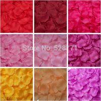 Wholesale Romantic Orange Color Silk Artificial Rose Petals For Wedding Decoration