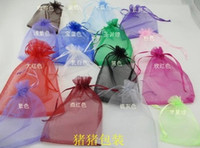 Wholesale Mixed Colors Colors cm Assorted Christmas Gift Organza Pouch Wedding Favor Organza Bag mm Wide Ribbon