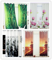 beach window curtains - m m promotion D digital printing thick full blackout curtains beach curtains bamboo curtains modern living room curtains