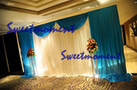 Wholesale A set Wedding Drape amp Pipe for Wedding Decoration Wedding Backdrop with detachable swage and Stand for Sale
