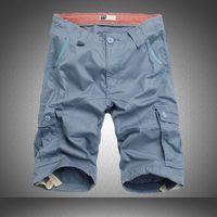 big cargo shorts - mens Shorts Army summer style new fashion board cargo shorts multie pockets casual shorts male big plus size knee
