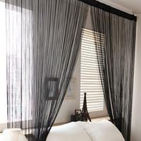 Wholesale Colors Door Windows Panel Living Room Divider Yarn String Curtain Strip Tassel Drape for Decor Freeshipping