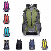 Wholesale L Waterproof Nylon Outdoor Hiking Backpacks Men Travel Bags Outdoor Sport Backpack Tourism School Backpacks Mountaineering Bag