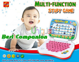Wholesale Toy Computer Laptop Tablet Baby Children Educational Learning Machine Toys Electronic Notebook Kids Study Game Pad Music Phone
