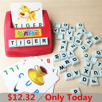 baby word games - Learning Machine Learn English Word Puzzle Toy Children s Educational Toys Baby Literacy Fun Game English Learning Cards