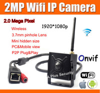 Wholesale P Wireless Mini IP Camera mm Pinhole Lens H MP Onvif Wifi IP Camera P2P Cloud Easy Visit PC amp Mobile