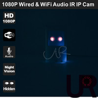audio styles - P Night Vision Wired and Wireless Onvif PIR Style Hidden IP Camera with Super Wide View Angle mm Pinhole Lens and Audio