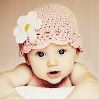 crochet baby caps 0- 3Y girl lace 1 flower beanie 9pcs lot co...