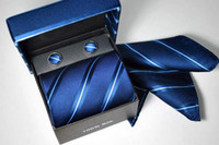 Wholesale gift box men s ties mens tie sets cuff links cuff button cufflink necktie mix order