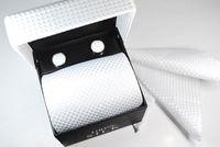 Wholesale hot sell mens tie sets wedding ties Tie cufflinks pocket towel gift box set C