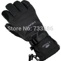 fleece gloves - Head Men ski gloves men electric bicycle motorcycle waterproof cold proof winter thermal fleece windproof gloves