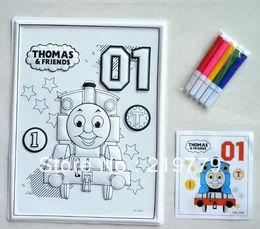 Wholesale cm Washable Kids DIY D coloring murals watercolor painting sets children s educational drawing toys