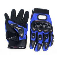 alice motorcycle - New Men Gloves Blue Short Sports Leather Motorcycle Gloves Summer Gloves amp Alice