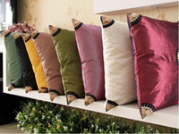 Wholesale Sunflower European classic pattern embroidery pattern chameleon fabric cushion covers